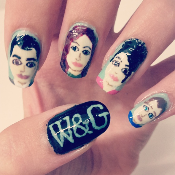 Will and Grace Nail Art