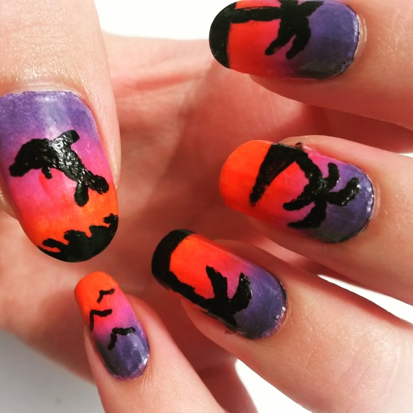 Sunset Paradise Nail Art