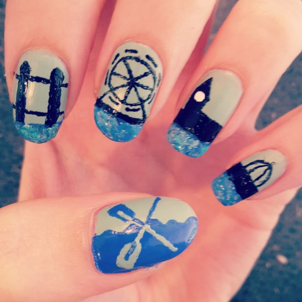 The Boat Races Nail Art