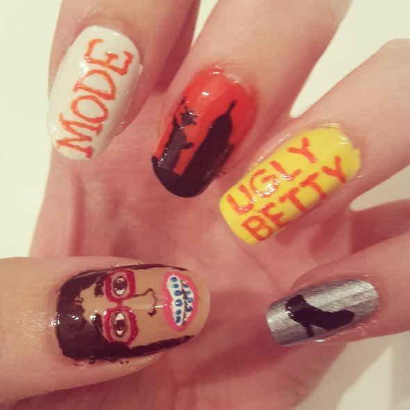 Ugly Betty Nail Art