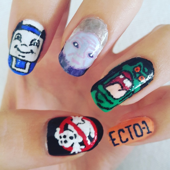 Ghostbusters Nail Art