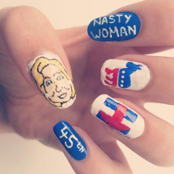Hillary Clinton Nail Art